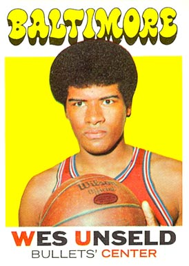 1971 Topps Wes Unseld #95 Basketball Card