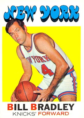 1971 Topps Bill Bradley #2 Basketball Card