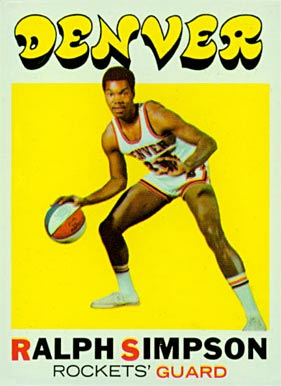 1971 Topps Ralph Simpson #232 Basketball Card