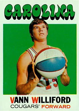 1971 Topps Vann Williford #229 Basketball Card