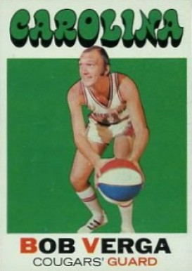1971 Topps Bob Verga #167 Basketball Card