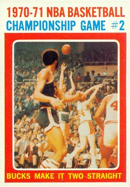 1971 Topps   #134 Basketball Card