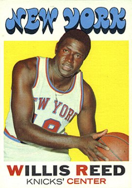1971 Topps Willis Reed #30 Basketball Card