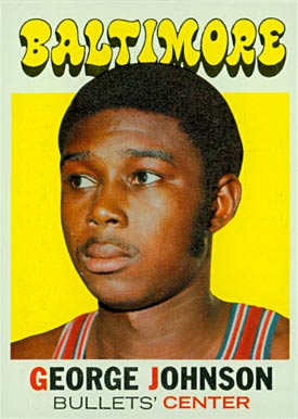 1971 Topps George Johnson #21 Basketball Card
