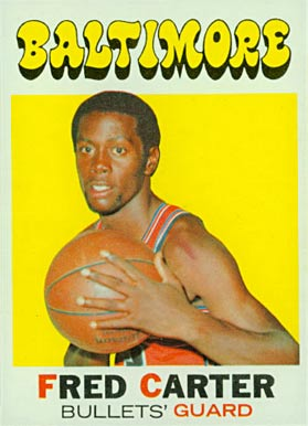 1971 Topps Fred Carter #14 Basketball Card