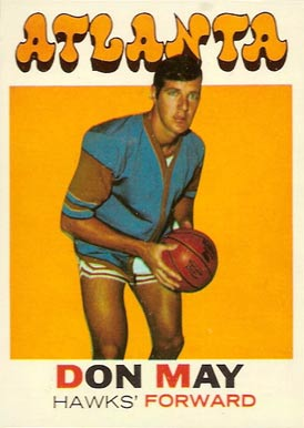 1971 Topps Don May #6 Basketball Card