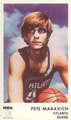 1972 Icee Bear Pete Maravich #13 Basketball Card