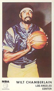 1972 Icee Bear Wilt Chamberlain #5 Basketball Card