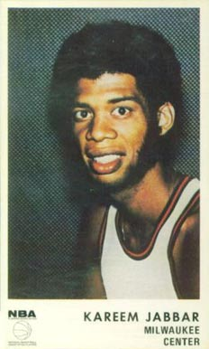 1972 Icee Bear Kareem Abdul Jabbar #1 Basketball Card