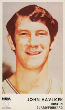 1972 Icee Bear John Havlicek #9 Basketball Card