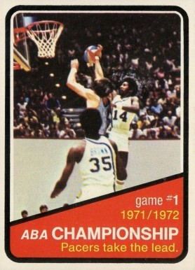 1972 Topps ABA Playoffs Game #1 #241 Basketball Card