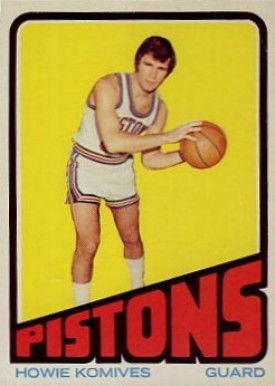 1972 Topps Howie Komives #13 Basketball Card