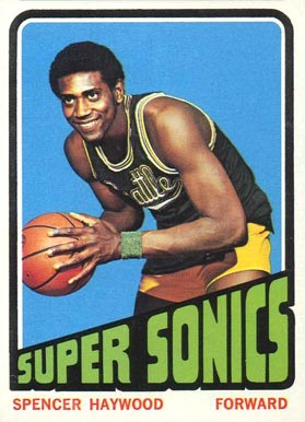 1972 Topps Spencer Haywood #10 Basketball Card