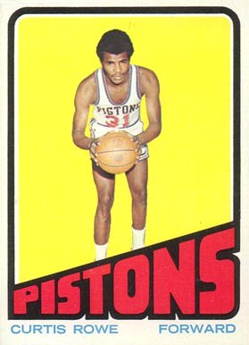 1972 Topps Curtis Rowe #24 Basketball Card