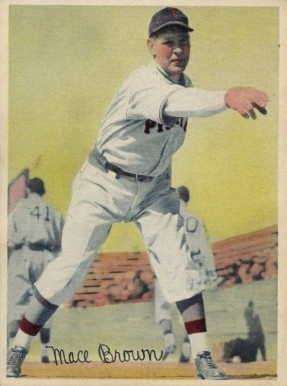 1936 R312 Mace Brown #8 Baseball Card