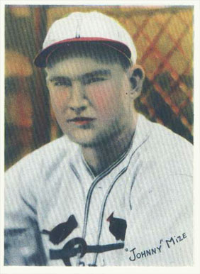 1936 R312 Johnny Mize #39 Baseball Card