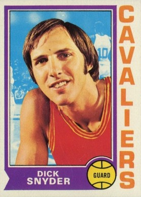 1974 Topps Dick Snyder #115 Basketball Card