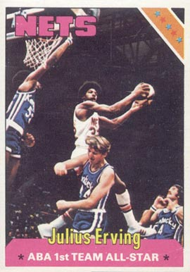 1975 Topps Julius Erving #300 Basketball Card
