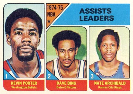 1975 Topps NBA Assist Leaders #5 Basketball Card