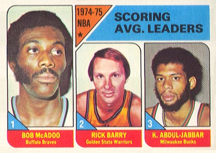 1975 Topps Bob McAdoo #1 Basketball Card