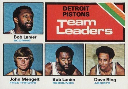 1975 Topps Detroit Pistons Team Leaders #121 Basketball Card