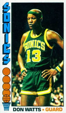 1976 Topps Don Watts #105 Basketball Card