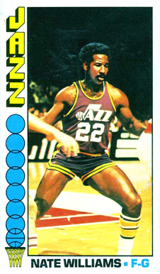 1976 Topps Nate Williams #88 Basketball Card