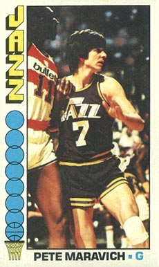 1976 Topps Pete Maravich #60 Basketball Card