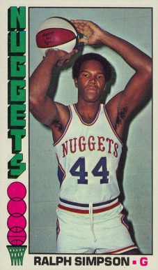1976 Topps Ralph Simpson #22 Basketball Card