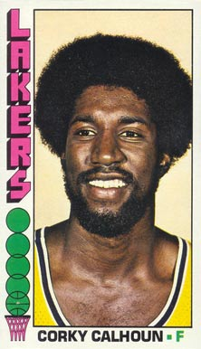 1976 Topps Corkey Calhoun #12 Basketball Card
