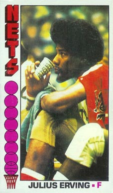 1976 Topps Julius Erving #1 Basketball Card
