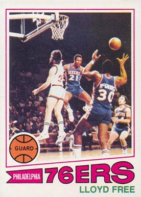 1977 Topps Lloyd Free #18 Basketball Card
