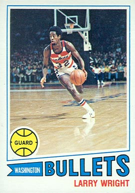 1977 Topps Larry Wright #112 Basketball Card