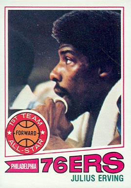 1977 Topps Julius Erving #100 Basketball Card