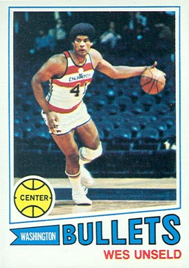 1977 Topps Wes Unseld #75 Basketball Card