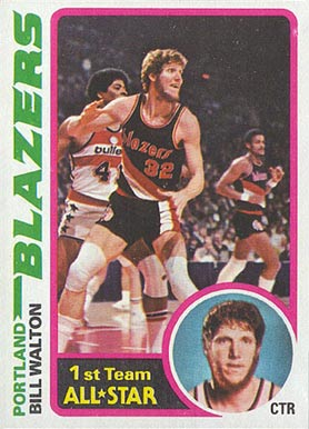 1978 Topps Bill Walton #1 Basketball Card
