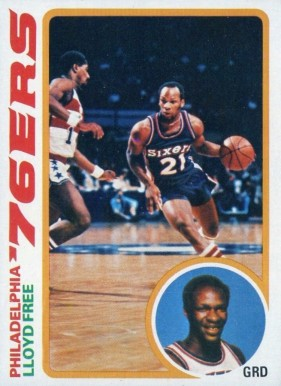 1978 Topps Lloyd Free #116 Basketball Card