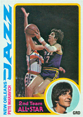 1978 Topps Pete Maravich #80 Basketball Card