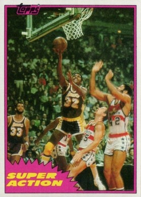 1981 Topps Magic Johnson #W109 Basketball Card