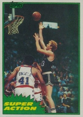 1981 Topps Larry Bird #E101 Basketball Card