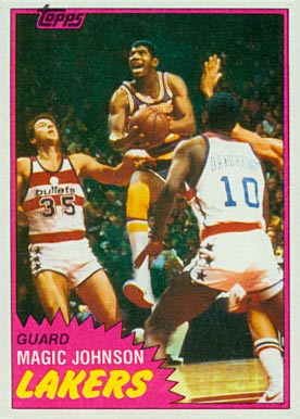 1981 Topps Magic Johnson #21 Basketball Card