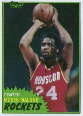 1981 Topps Moses Malone #14 Basketball Card