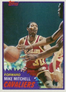 1981 Topps Mike Mitchell #9 Basketball Card