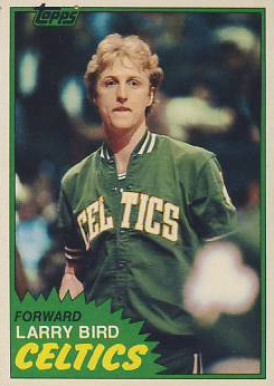 1981 Topps Larry Bird #4 Basketball Card