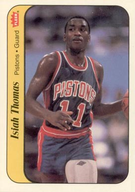 1986 Fleer Sticker Isiah Thomas #10 Basketball Card