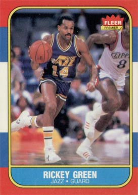 1986 Fleer Rickey Green #39 Basketball Card
