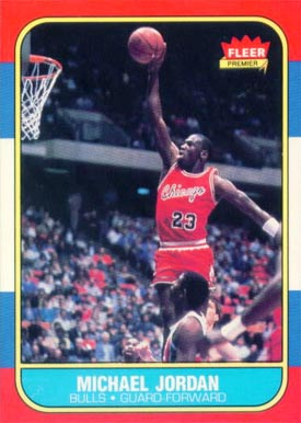 1986 Fleer Michael Jordan #57 Basketball Card