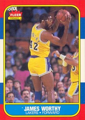 1986 Fleer James Worthy #131 Basketball Card