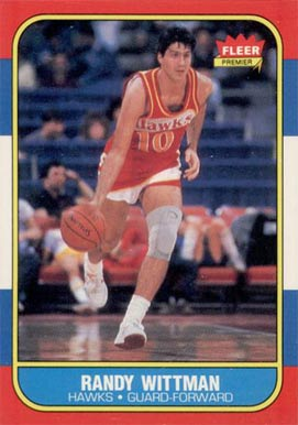 1986 Fleer Randy Wittman #127 Basketball Card
