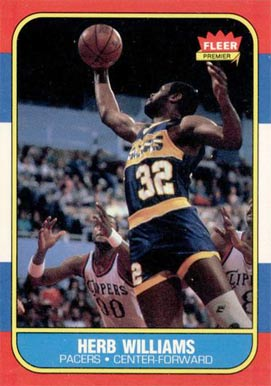 1986 Fleer Herb Williams #125 Basketball Card
